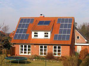 4,7 kWp netzeinspeisende solare Stromanlage Einbau: 2005 in Fockbek