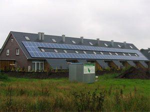 19,4 kWp netzeinspeisende solare Stromanlage Einbau: 2005 in Kroop
