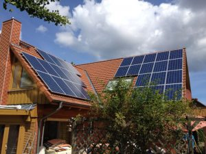 7,8 kWp Eigenverbrauchsanlage Installation 2013 in Schönberg